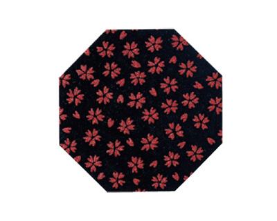 印伝調仏具敷 10枚入[小桜 エンジ](サイズは3種類)の写真