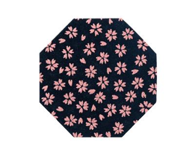 印伝調仏具敷 10枚入[小桜 ピンク](サイズは3種類)の写真