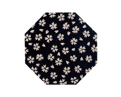 印伝調仏具敷 10枚入[小桜 黒](サイズは3種類)の写真
