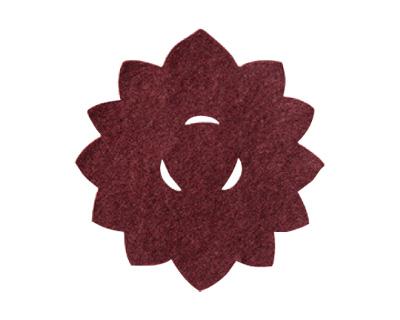 華型仏具敷 10枚入[小豆色](サイズは4種類)の写真