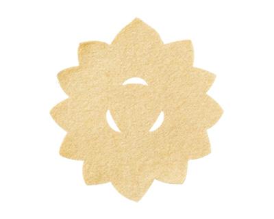 華型仏具敷 10枚入[白茶](サイズは4種類)の写真