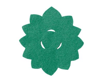 華型仏具敷 10枚入[緑](サイズは4種類)の写真