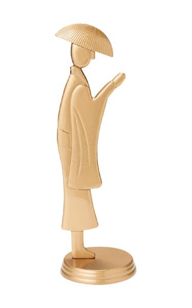 合掌念珠かけ(樹脂製)[金塗]の写真