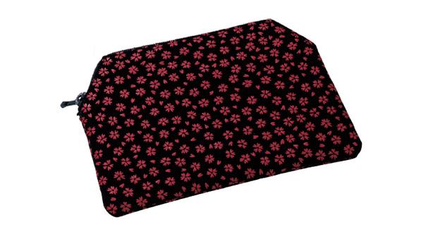 印伝調ファスナー付念珠袋[小桜エンジ]の写真