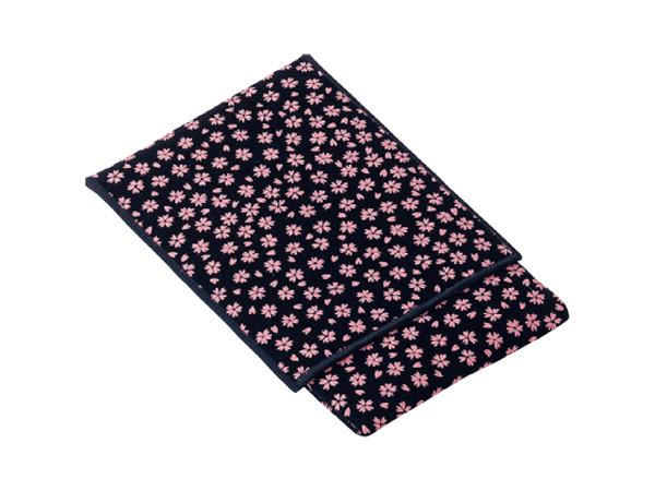 印伝調かつら念珠袋[小桜ピンクジ]の写真