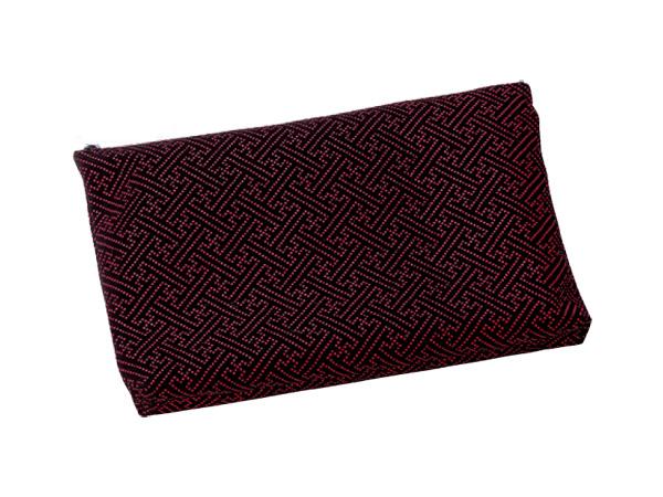 印伝調ファスナーバッグ[サヤ エンジ](サイズは3種類)の写真