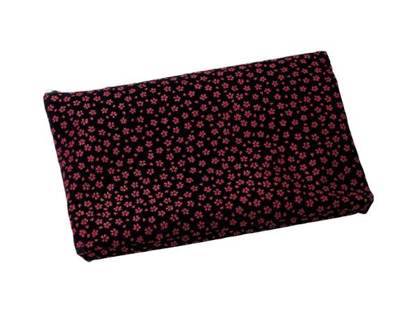印伝調ファスナーバッグ[小桜エンジ](サイズは3種類)の写真