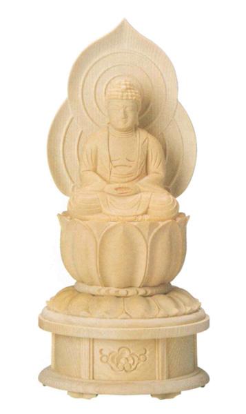 仏像 桧木 蓮華台座  【座釈迦または座弥陀】増台付(サイズ4種類)の写真