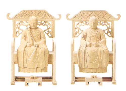 仏像 総白木 【常済・承陽】(太祖・高祖)(サイズ4種類)の写真