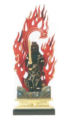 仏像 【不動明王】(木製彩色) (サイズ5種類)の写真