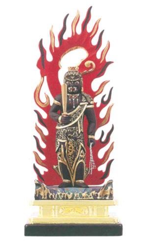 仏像 木製彩色 【不動尊】(サイズ5種類)の写真