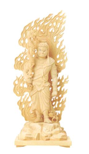仏像 総柘植 【不動明王】 眼入【上彫】(サイズ3種類)の写真