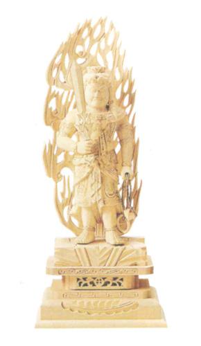 仏像 総柘植 【不動明王】 金泥書(サイズ6種類)の写真