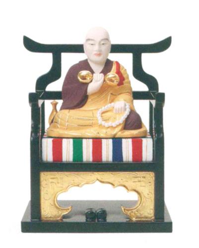 仏像 【弘法大師】(木製彩色)(サイズ3種類)の写真
