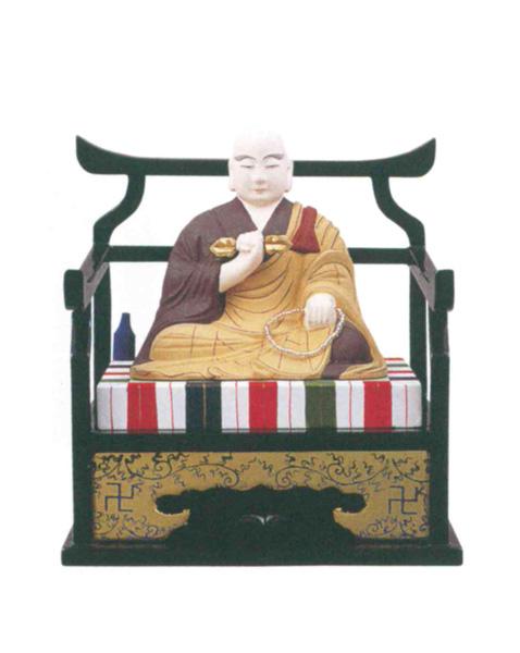 仏像 木製彩色 【弘法大師】(サイズ5種類)の写真