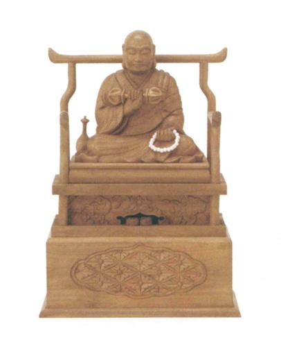 仏像 白檀 【弘法大師】(サイズ2種類)の写真