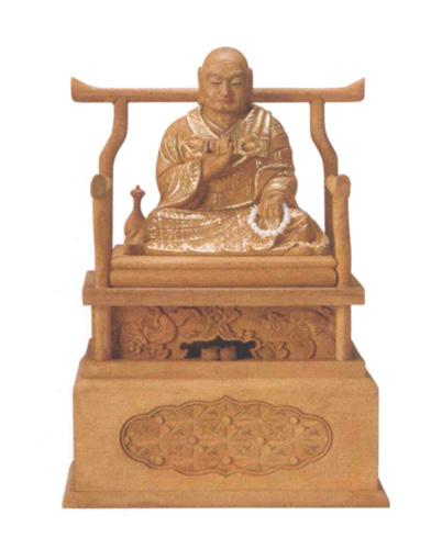 仏像 楠木 【弘法大師】 眼入 切金付(サイズ2種類)の写真