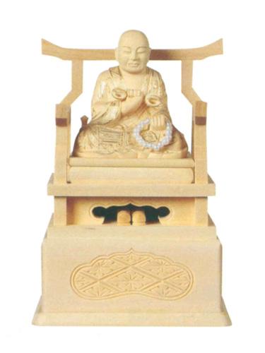 仏像 総柘植 【弘法大師】 金泥書(サイズ5種類)の写真