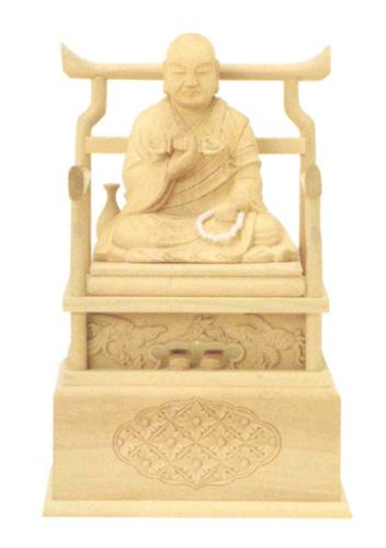 仏像 本柘植 【弘法大師】(サイズ2種類)の写真