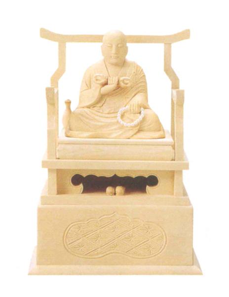 仏像 総白木 【弘法大師】(サイズ4種類)の写真