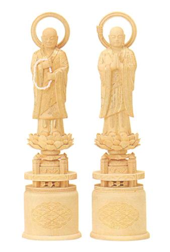 仏像 総柘植 【両大師】 金泥書(サイズ5種類)の写真