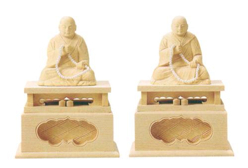 仏像 総白木 【親鸞・蓮如】(サイズ3種類)の写真