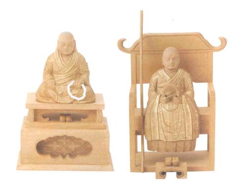 仏像 楠木地彫 【花園・無相】 金泥書(サイズ3種類)の写真