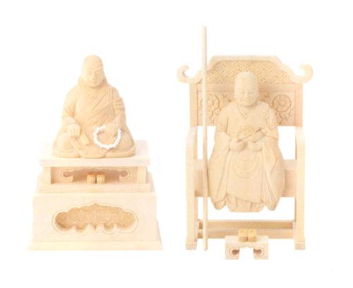 仏像 総白木 【花園・無相】(サイズ3種類)の写真