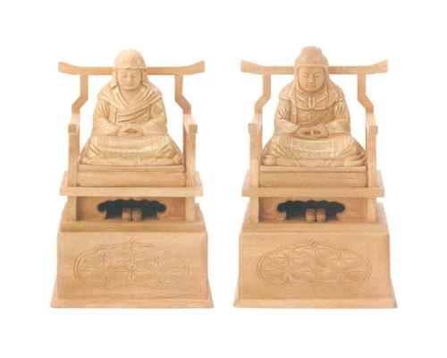 仏像 楠木地彫 【天台・伝教】 金泥書(サイズ3種類)の写真