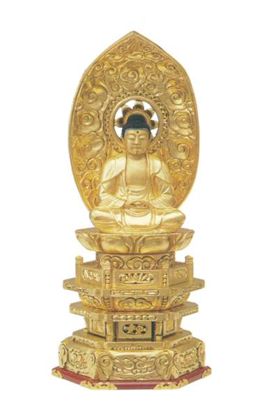 木製 純金並京 【座釈迦】 肌粉(サイズは4種類)の写真