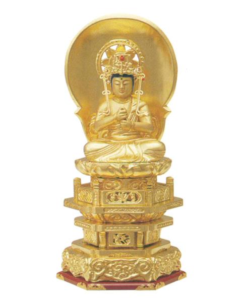 木製 純金並京 【大日如来】 肌粉(サイズは4種類)の写真