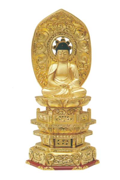 木製 純金並京 【座弥陀】 肌粉(サイズは4種類)の写真