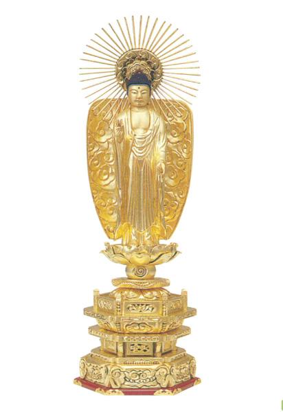 木製 純金並京 【西立弥陀】 肌粉(サイズは6種類)の写真