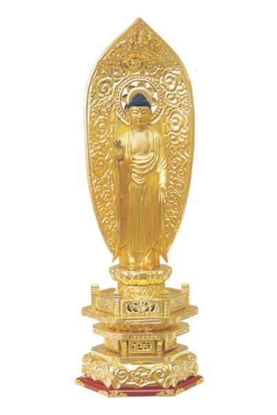 木製 純金並京 【舟立弥陀】 肌粉(サイズ6種類)の写真