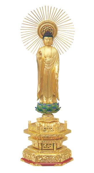 木製 純金並京 【東立弥陀】 肌粉(サイズ6種類)の写真