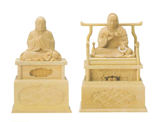 仏像 本柘植 【弘法大師・興教大師】(サイズ2種類)の写真