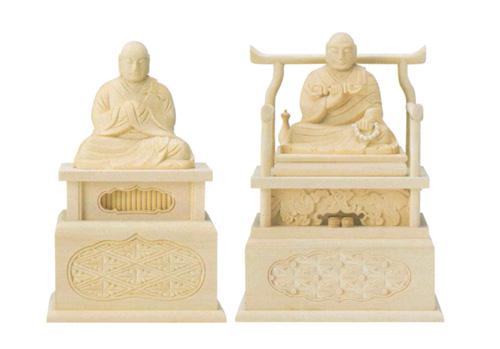 仏像 桧木 【弘法大師・興教大師】(サイズ2種類)の写真