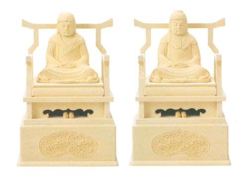 仏像 総白木 【伝教・天台】(サイズ3種類)の写真