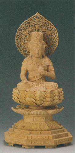 仏像 柘植 【虚空蔵菩薩(守)】(うし・とら年生まれのお守り本尊)の写真
