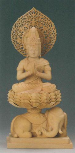 仏像 柘植 【普賢菩薩(守)】(たつ・み年生まれのお守り本尊)の写真