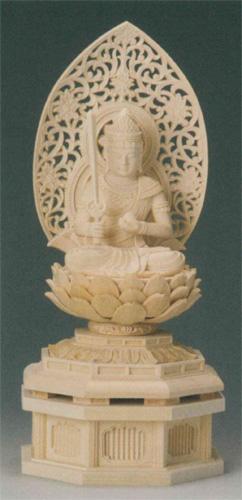 仏像 桧木 【虚空蔵菩薩(守)】(うし・とら年生まれのお守り本尊)の写真