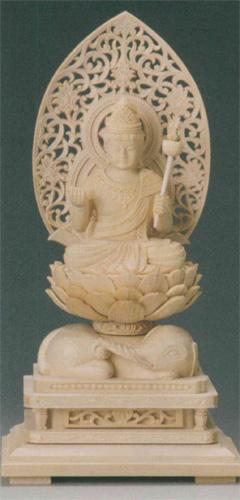 仏像 桧木 【普賢菩薩(守)】(たつ・み年生まれのお守り本尊)の写真