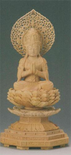仏像 柘植 【勢至菩薩(守)】(うま年生まれのお守り本尊)の写真