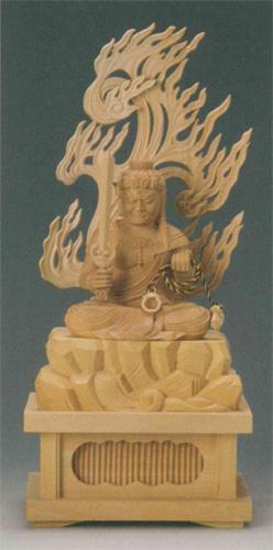 仏像 柘植 【不動明王(守)】(とり年生まれのお守り本尊)の写真
