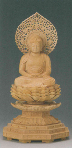 仏像 柘植 【阿弥陀如来(守)】(いぬ・い年生まれのお守り本尊)の写真