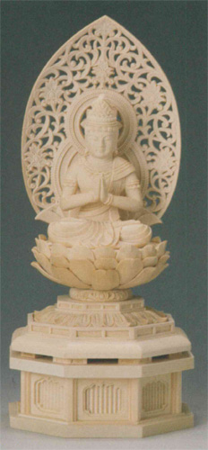 仏像 桧木 【勢至菩薩(守)】(うま年生まれのお守り本尊)の写真