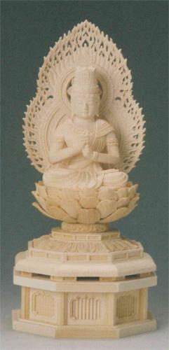 仏像 桧木 【大日如来(守)】(ひつじ・さる年生まれのお守り本尊)の写真