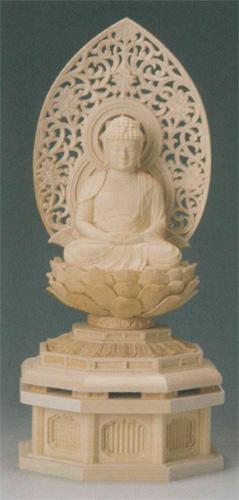 仏像 桧木 【阿弥陀如来(守)】(いぬ・い年生まれのお守り本尊)の写真