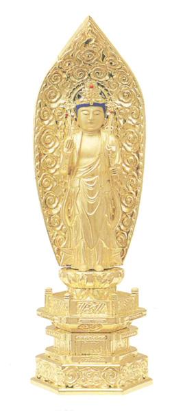 仏像 純金中七 【聖観音】 肌粉(サイズ6種類)の写真