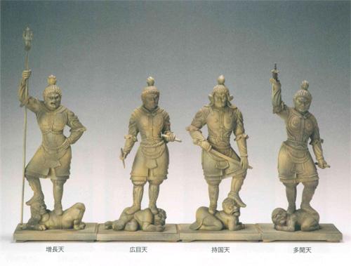 仏像 東大寺型 【四天王】 古代色仕上(サイズ4種類)の写真